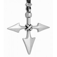 Barbarian Cross Pewter Necklace Jewelry Gem Shop  Sterling Silver Jewerly | Gemstone Jewelry | Unique Jewelry