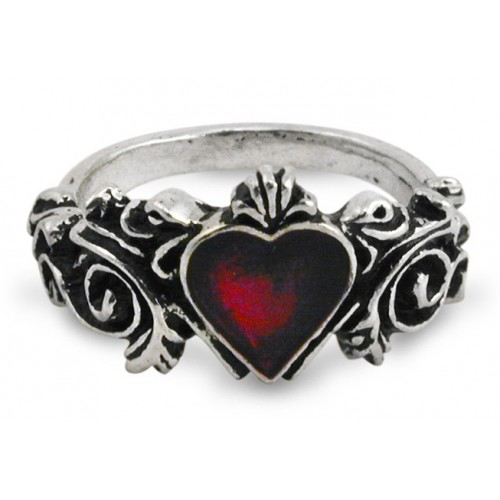 Betrothal Gothic Heart Pewter Ring at Jewelry Gem Shop,  Sterling Silver Jewerly | Gemstone Jewelry | Unique Jewelry
