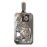 Death Small Tarot Pendant Jewelry Gem Shop  Sterling Silver Jewerly | Gemstone Jewelry | Unique Jewelry