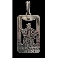 Justice Small Tarot Pendant