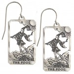 The Fool Small Tarot Card Earrings | Sterling Silver Tarot Jewelry at Jewelry Gem Shop,  Sterling Silver Jewerly | Gemstone Jewelry | Unique Jewelry