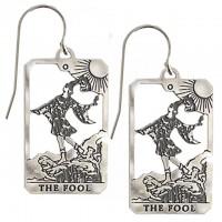 The Fool Small Tarot Card Earrings | Sterling Silver Tarot Jewelry