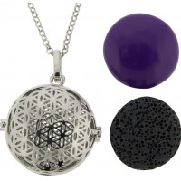 Flower of Life Harmony Gemstone Holder Pendant Jewelry Gem Shop  Sterling Silver Jewerly | Gemstone Jewelry | Unique Jewelry