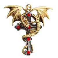 Crux Dragana Gothic Cross Necklace Jewelry Gem Shop  Sterling Silver Jewerly | Gemstone Jewelry | Unique Jewelry