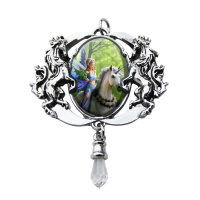 Realm of Enchantment Unicorn Cameo by Anne Stokes