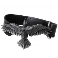 Black Consort Raven Leather Strap Bracelet Jewelry Gem Shop  Sterling Silver Jewerly | Gemstone Jewelry | Unique Jewelry