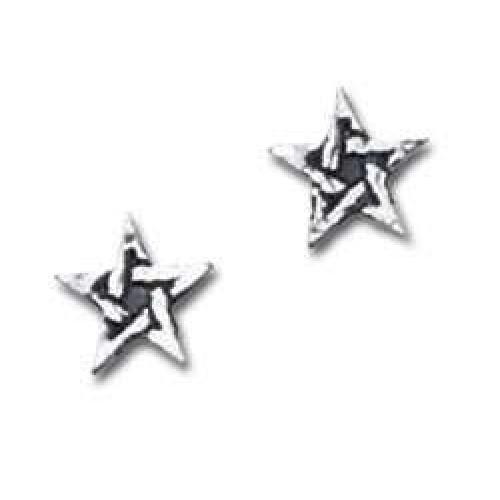 Pentagram Stud Pewter Earrings at Jewelry Gem Shop,  Sterling Silver Jewerly   Gemstone Jewelry   Unique Jewelry