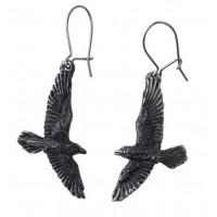 Black Raven Earring Pair Jewelry Gem Shop  Sterling Silver Jewerly | Gemstone Jewelry | Unique Jewelry