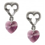 Elizabethan Crystal Heart Earrings at Jewelry Gem Shop,  Sterling Silver Jewerly | Gemstone Jewelry | Unique Jewelry