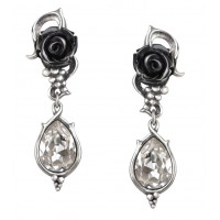 Bacchanal Black Rose Drop Earrings Jewelry Gem Shop  Sterling Silver Jewerly | Gemstone Jewelry | Unique Jewelry