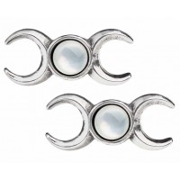 Triple Goddess Stud Earrings Jewelry Gem Shop  Sterling Silver Jewerly | Gemstone Jewelry | Unique Jewelry