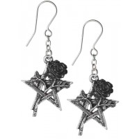 Ruah Vered Pentacle Rose Gothic Earrings Jewelry Gem Shop  Sterling Silver Jewerly | Gemstone Jewelry | Unique Jewelry