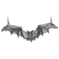 Gothic Bat Pewter Necklace Jewelry Gem Shop  Sterling Silver Jewerly | Gemstone Jewelry | Unique Jewelry