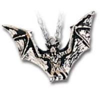 Vampyr Bat Pewter Necklace Jewelry Gem Shop  Sterling Silver Jewerly   Gemstone Jewelry   Unique Jewelry