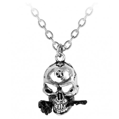 Alchemist Skull Pewter Dreadpunk Necklace at Jewelry Gem Shop,  Sterling Silver Jewerly | Gemstone Jewelry | Unique Jewelry