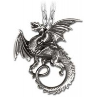 The Whitby Wyrm Pewter Dragon Necklace