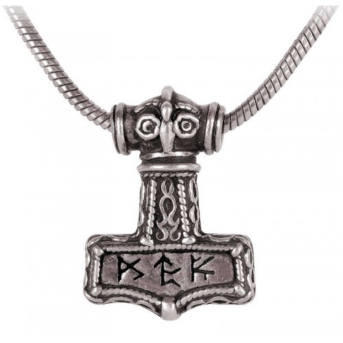 Bindrune Thors Hammer Pewter Necklace at Jewelry Gem Shop,  Sterling Silver Jewerly | Gemstone Jewelry | Unique Jewelry