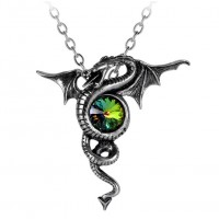 Anguis Aeternus Dragon Pewter Necklace