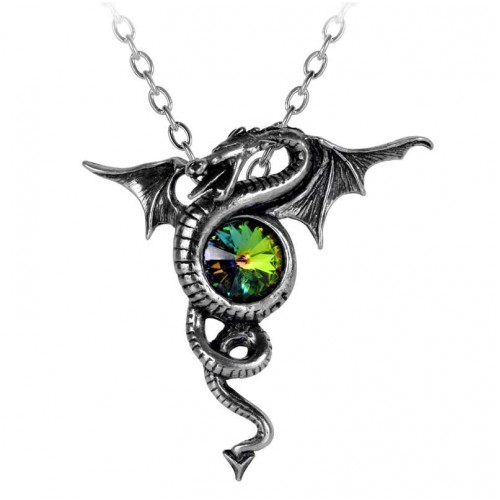 Anguis Aeternus Dragon Pewter Necklace at Jewelry Gem Shop,  Sterling Silver Jewerly | Gemstone Jewelry | Unique Jewelry
