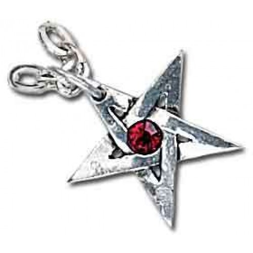 Crystal Pentagram Pewter Necklace at Jewelry Gem Shop,  Sterling Silver Jewerly | Gemstone Jewelry | Unique Jewelry