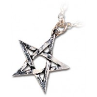 Pentagram Pewter Necklace
