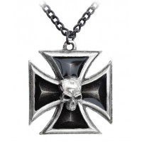 Black Knights Cross Pewter Necklace Jewelry Gem Shop  Sterling Silver Jewerly | Gemstone Jewelry | Unique Jewelry