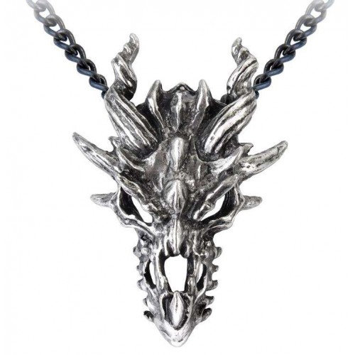 Dragon Skull Pewter Gothic Necklace at Jewelry Gem Shop,  Sterling Silver Jewerly | Gemstone Jewelry | Unique Jewelry