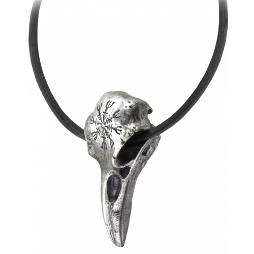 Helm of Awe Ravenskull Gothic Necklace