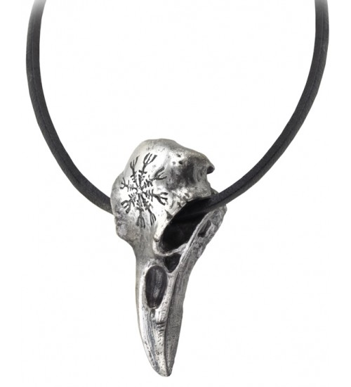 Helm of Awe Ravenskull Gothic Necklace at Jewelry Gem Shop,  Sterling Silver Jewerly | Gemstone Jewelry | Unique Jewelry
