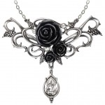 Bacchanal Black Rose Victorian Necklace at Jewelry Gem Shop,  Sterling Silver Jewerly | Gemstone Jewelry | Unique Jewelry
