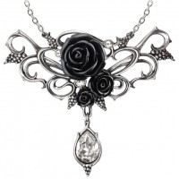 Bacchanal Black Rose Victorian Necklace