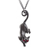 Cat Sith Black Pewter Necklace