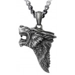 Dark Wolf Pendant with Chain at Jewelry Gem Shop,  Sterling Silver Jewerly | Gemstone Jewelry | Unique Jewelry