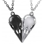 Coeur Crane Bird Skull Necklace Set at Jewelry Gem Shop,  Sterling Silver Jewerly   Gemstone Jewelry   Unique Jewelry