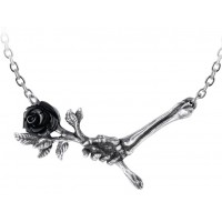 Love Never Dies Black Rose Necklace