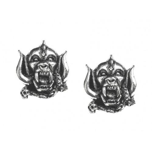 Motorhead War-Pig Pewter Earrings