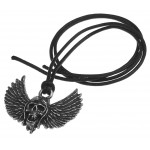 Airbourne Wings Pewter Band Necklace at Jewelry Gem Shop,  Sterling Silver Jewerly | Gemstone Jewelry | Unique Jewelry