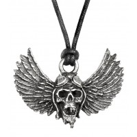 Airbourne Wings Pewter Band Necklace