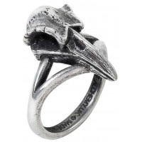 Rabeschadel Kleiner Raven Skull Gothic Pewter Ring Jewelry Gem Shop  Sterling Silver Jewerly | Gemstone Jewelry | Unique Jewelry