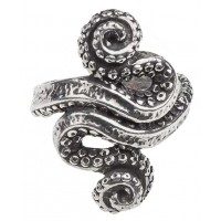 Kraken Octopus Pewter Ring