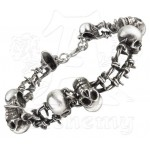 No Mans Land Barbed Wire Dreadpunk Skull Bracelet at Jewelry Gem Shop,  Sterling Silver Jewerly | Gemstone Jewelry | Unique Jewelry