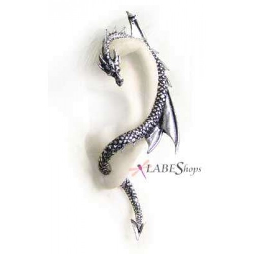 Dragons Lure Earring Wrap - Left Ear at Jewelry Gem Shop,  Sterling Silver Jewerly | Gemstone Jewelry | Unique Jewelry