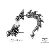 Tor Dragon Faux Stretcher Earring Jewelry Gem Shop  Sterling Silver Jewerly | Gemstone Jewelry | Unique Jewelry