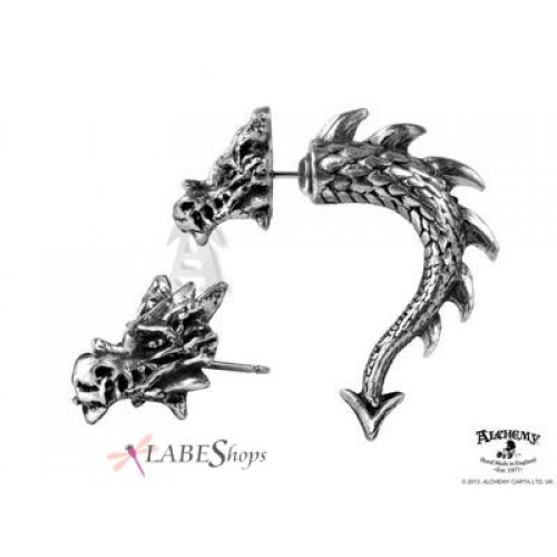 Tor Dragon Faux Stretcher Earring at Jewelry Gem Shop,  Sterling Silver Jewerly   Gemstone Jewelry   Unique Jewelry