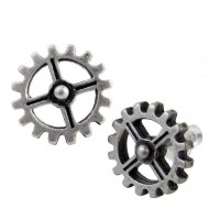 Industrilobe Steampunk Gear Earring Pair