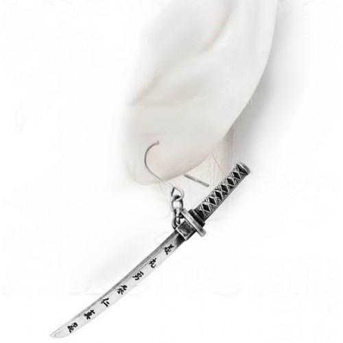 Bushido Katana Sword Single Pewter Earring at Jewelry Gem Shop,  Sterling Silver Jewerly | Gemstone Jewelry | Unique Jewelry