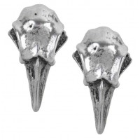Rabeschadel Pewter Raven Skull Stud Earrings Jewelry Gem Shop  Sterling Silver Jewerly | Gemstone Jewelry | Unique Jewelry