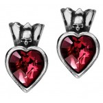 Claddagh by Night Heart Earstud Gothic Earrings at Jewelry Gem Shop,  Sterling Silver Jewerly | Gemstone Jewelry | Unique Jewelry