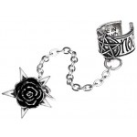 Rosa Nocta Gothic Earcuff at Jewelry Gem Shop,  Sterling Silver Jewerly | Gemstone Jewelry | Unique Jewelry