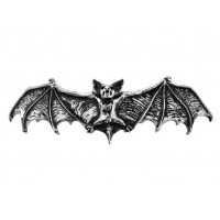 Darkling Bat Pewter Hair Slide